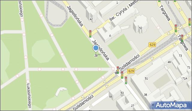 Warszawa, Jagiellońska, 29, mapa Warszawy