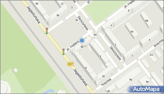 Warszawa, Jagiellońska, 54, mapa Warszawy