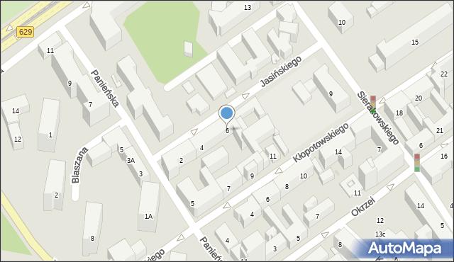 Warszawa, Jasińskiego Jakuba, 6, mapa Warszawy