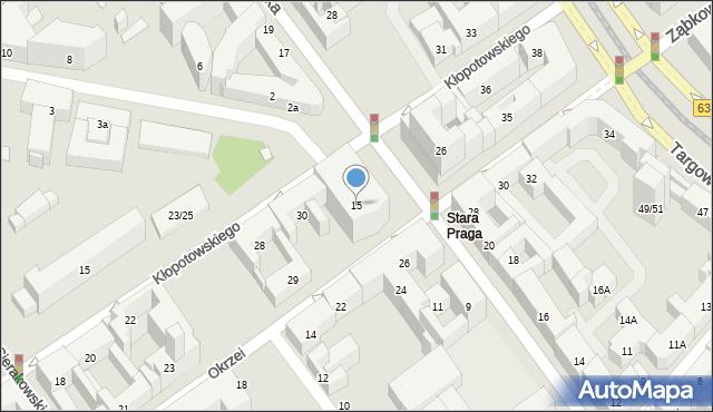Warszawa, Jagiellońska, 15, mapa Warszawy