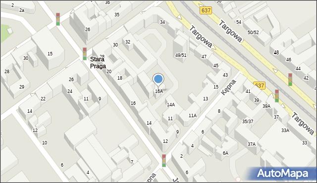 Warszawa, Jagiellońska, 16A, mapa Warszawy