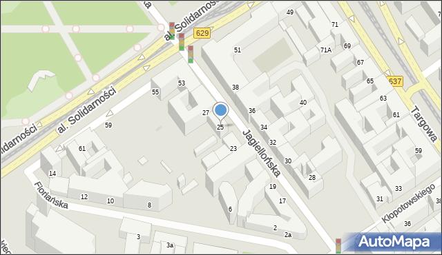 Warszawa, Jagiellońska, 25, mapa Warszawy