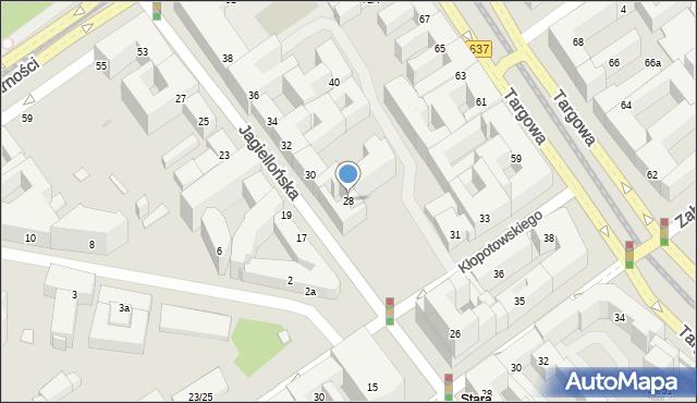 Warszawa, Jagiellońska, 28, mapa Warszawy