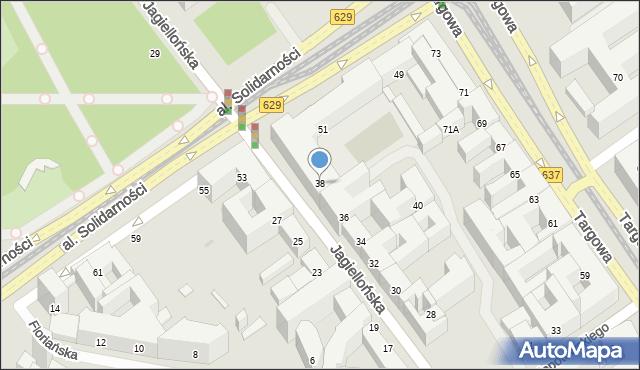 Warszawa, Jagiellońska, 38, mapa Warszawy