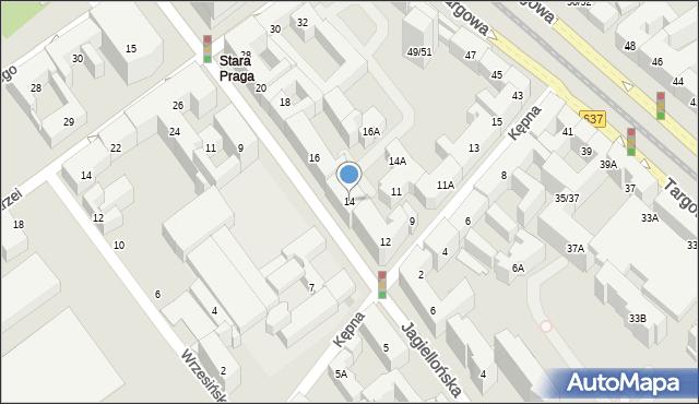 Warszawa, Jagiellońska, 14, mapa Warszawy