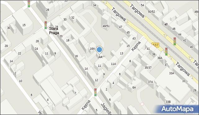 Warszawa, Jagiellońska, 14A, mapa Warszawy