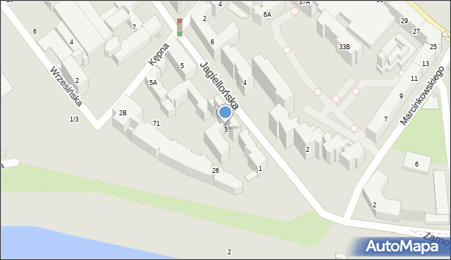 Warszawa, Jagiellońska, 3, mapa Warszawy