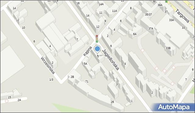 Warszawa, Jagiellońska, 5, mapa Warszawy