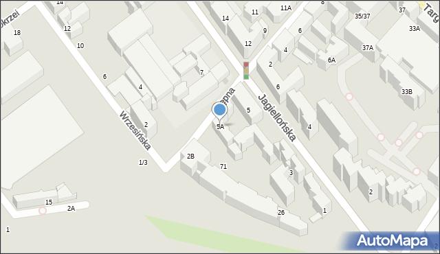 Warszawa, Jagiellońska, 5A, mapa Warszawy