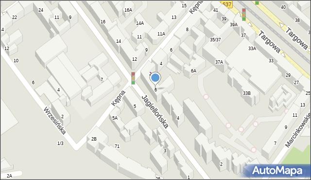 Warszawa, Jagiellońska, 6, mapa Warszawy