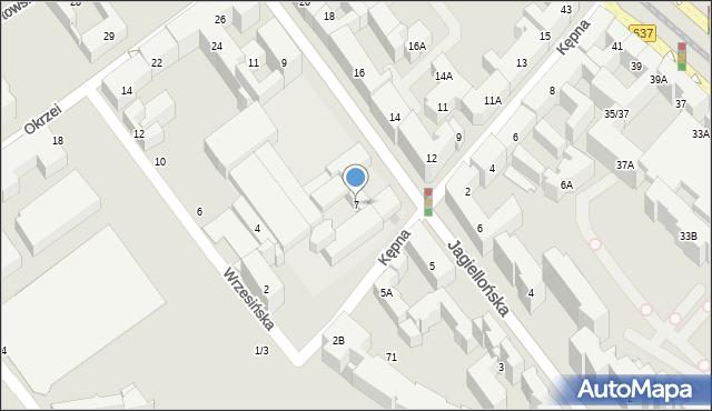 Warszawa, Jagiellońska, 7, mapa Warszawy