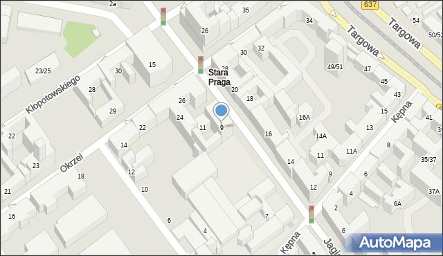 Warszawa, Jagiellońska, 9, mapa Warszawy