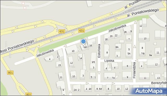 Warszawa, Jakubowska, 14, mapa Warszawy
