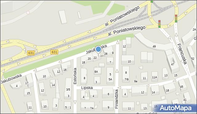 Warszawa, Jakubowska, 24, mapa Warszawy