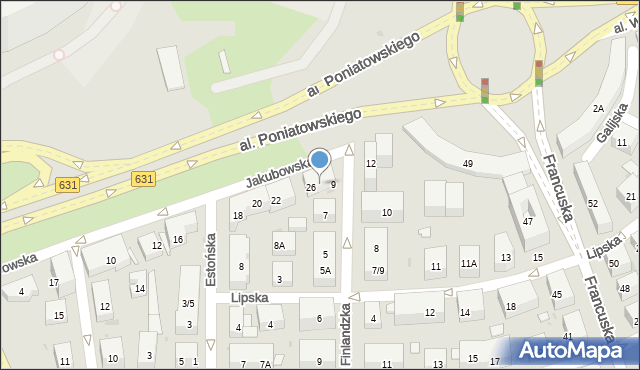 Warszawa, Jakubowska, 28, mapa Warszawy
