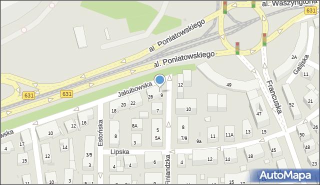 Warszawa, Jakubowska, 32, mapa Warszawy