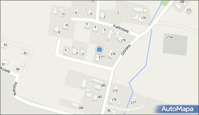 Wieprz, Jasna, 1, mapa Wieprz