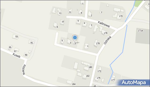 Wieprz, Jasna, 3, mapa Wieprz