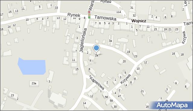 Wojnicz, Jagiellońska, 2a, mapa Wojnicz
