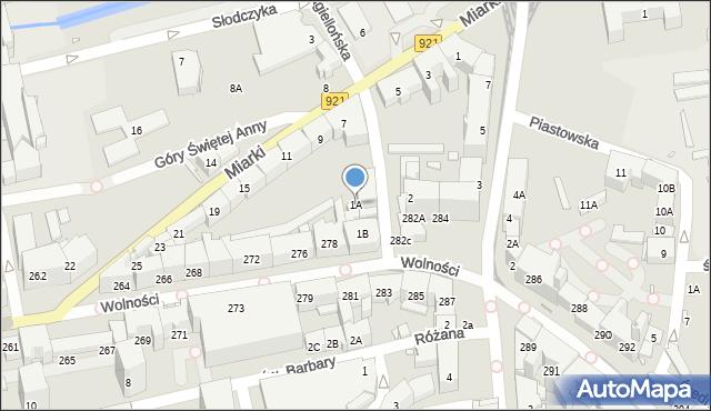 Zabrze, Jagiellońska, 1A, mapa Zabrza