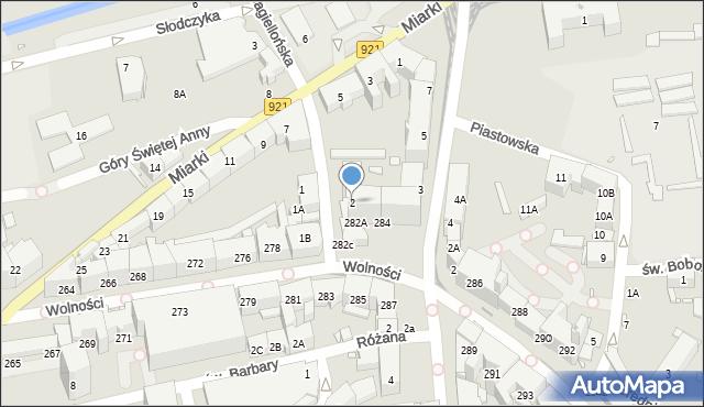 Zabrze, Jagiellońska, 2, mapa Zabrza