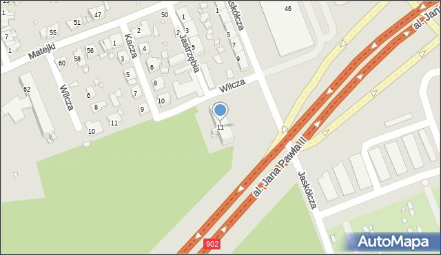 Zabrze, Jaskółcza, 11, mapa Zabrza