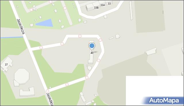 Zabrze, Jaskółcza, 40, mapa Zabrza