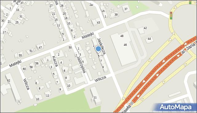 Zabrze, Jaskółcza, 5, mapa Zabrza