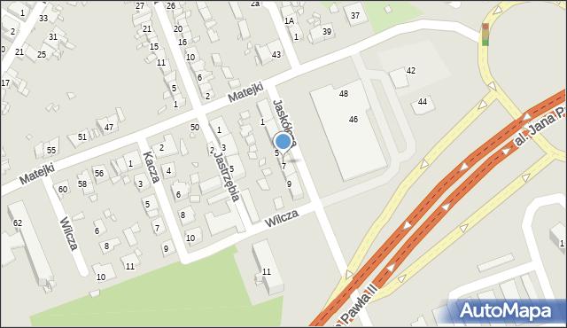 Zabrze, Jaskółcza, 7, mapa Zabrza