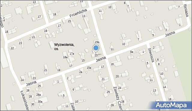 Zabrze, Jasna, 13, mapa Zabrza
