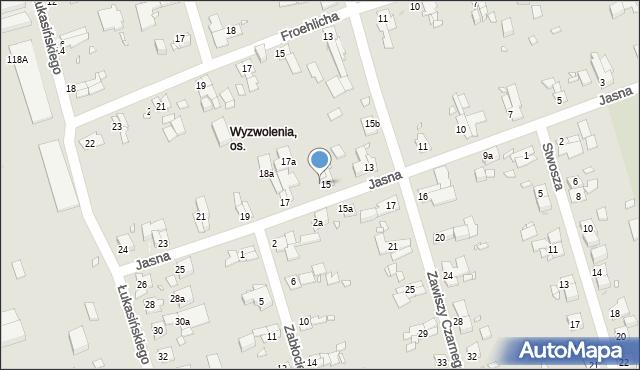 Zabrze, Jasna, 16, mapa Zabrza