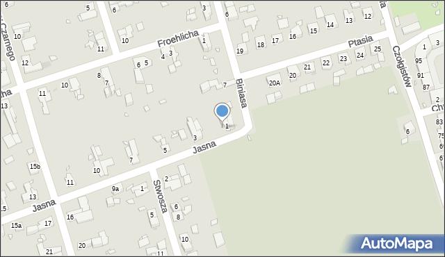 Zabrze, Jasna, 2, mapa Zabrza