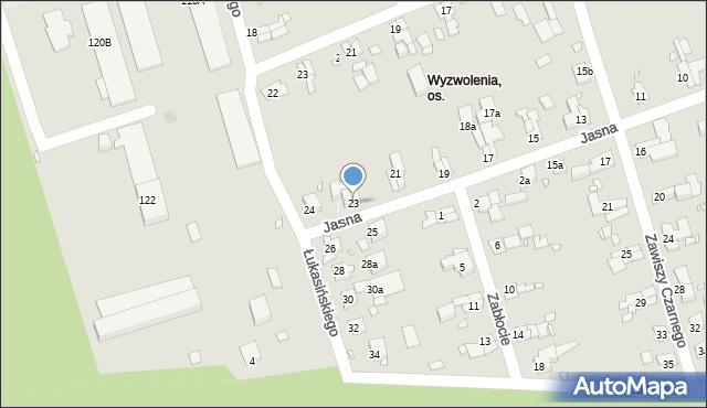 Zabrze, Jasna, 23, mapa Zabrza