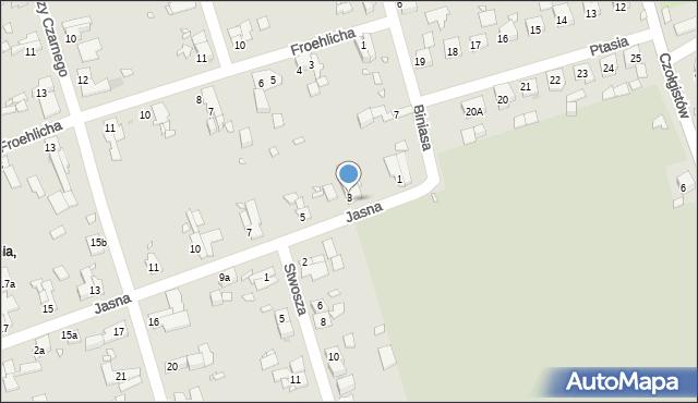 Zabrze, Jasna, 3, mapa Zabrza