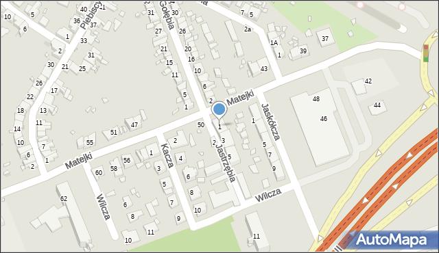 Zabrze, Jastrzębia, 1, mapa Zabrza