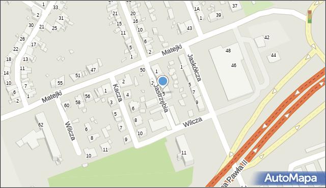 Zabrze, Jastrzębia, 5, mapa Zabrza