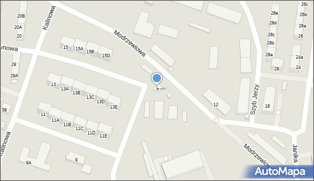 Zabrze, Janika Pawła, ks., 7, mapa Zabrza