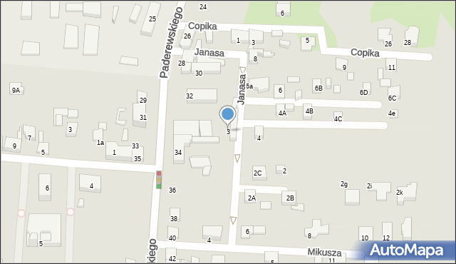 Zabrze, Janasa Wincentego, 3, mapa Zabrza