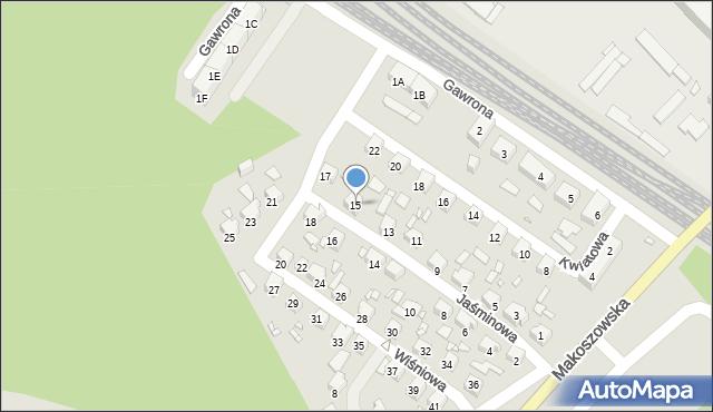 Zabrze, Jaśminowa, 15, mapa Zabrza