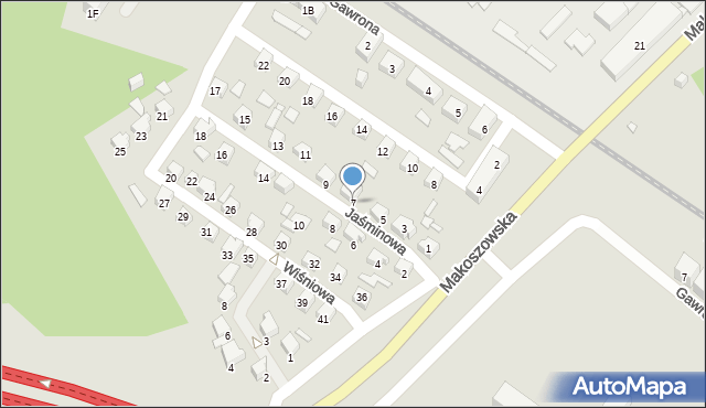 Zabrze, Jaśminowa, 7, mapa Zabrza