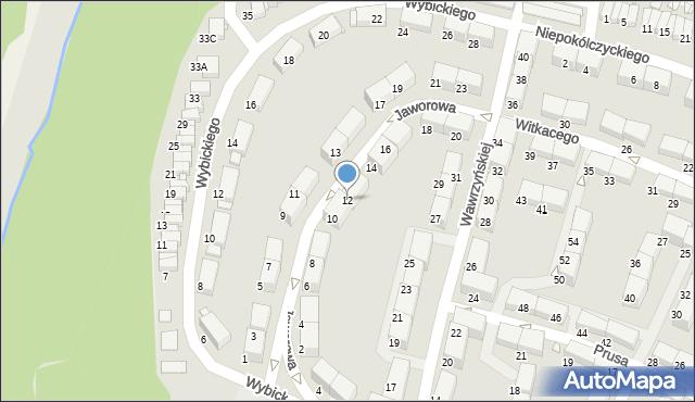 Zabrze, Jaworowa, 12, mapa Zabrza