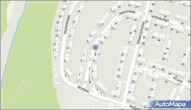 Zabrze, Jaworowa, 8, mapa Zabrza