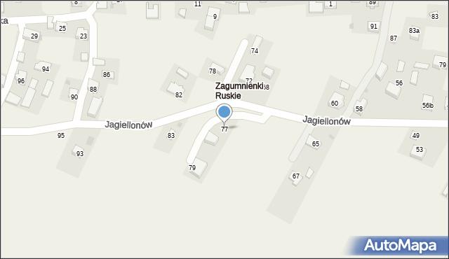 Żurawica, Jagiellonów, 77, mapa Żurawica