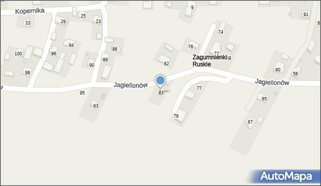 Żurawica, Jagiellonów, 83, mapa Żurawica