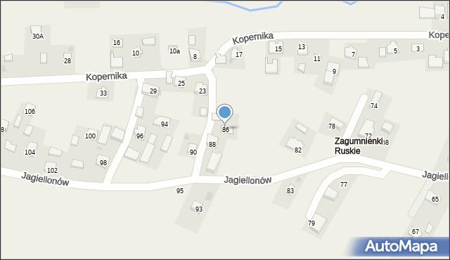 Żurawica, Jagiellonów, 86, mapa Żurawica
