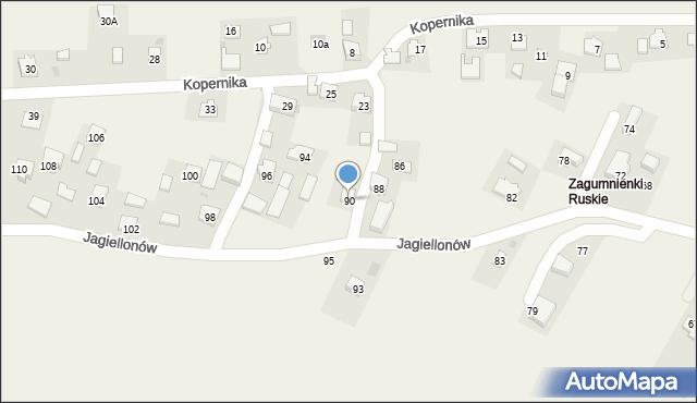 Żurawica, Jagiellonów, 90, mapa Żurawica