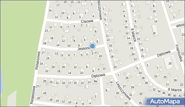 Bytom, Jesionowa, 1, mapa Bytomia