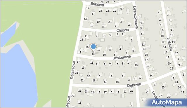Bytom, Jesionowa, 14, mapa Bytomia