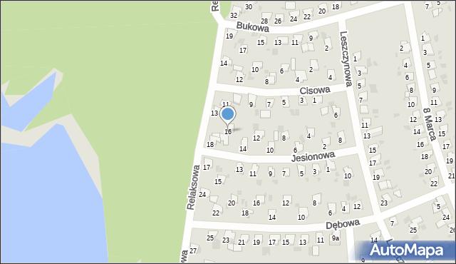 Bytom, Jesionowa, 16, mapa Bytomia