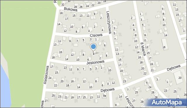 Bytom, Jesionowa, 4, mapa Bytomia